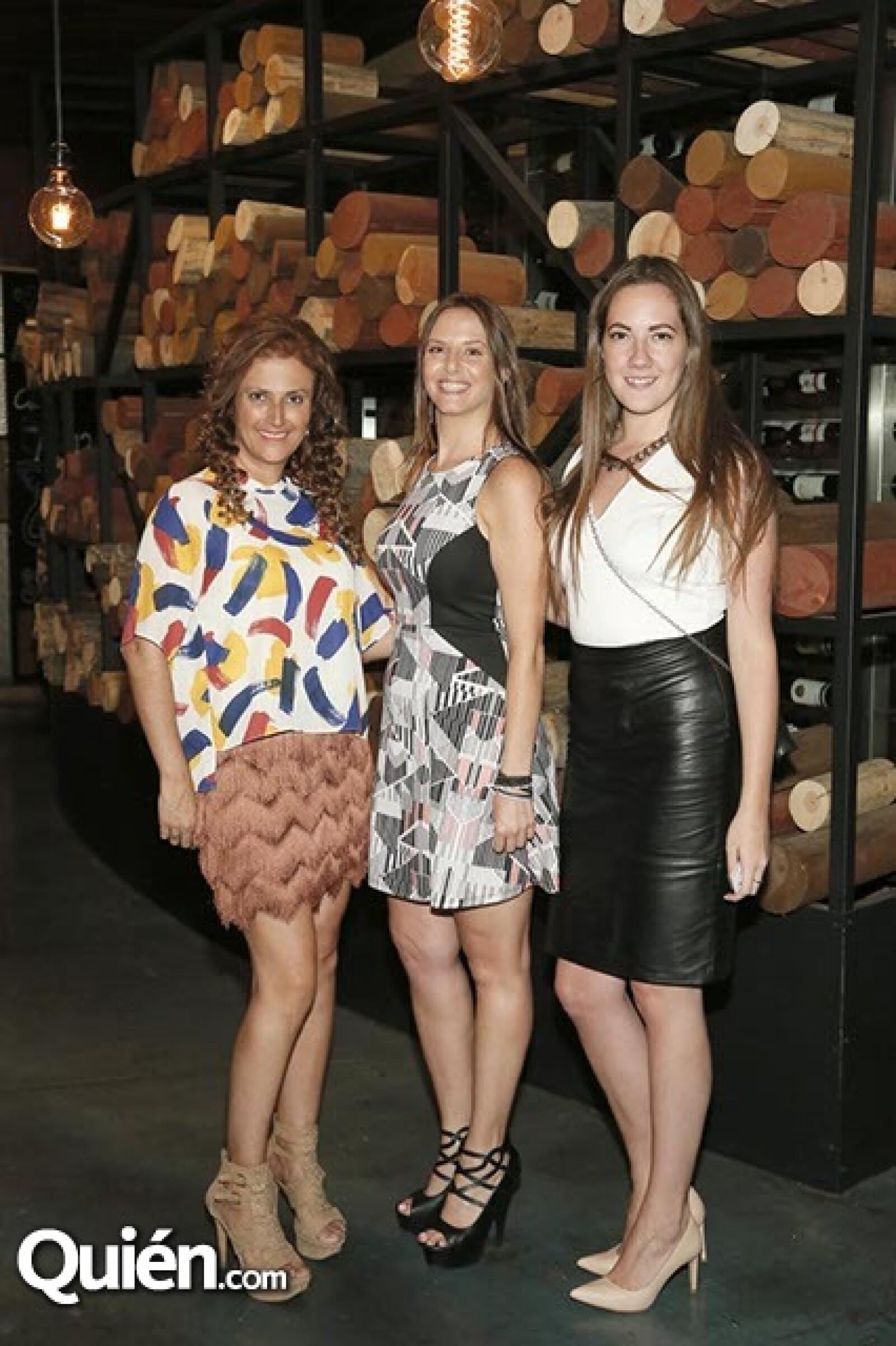 Ericka Ulrich,Sara Hadid y Fernanda Larrea