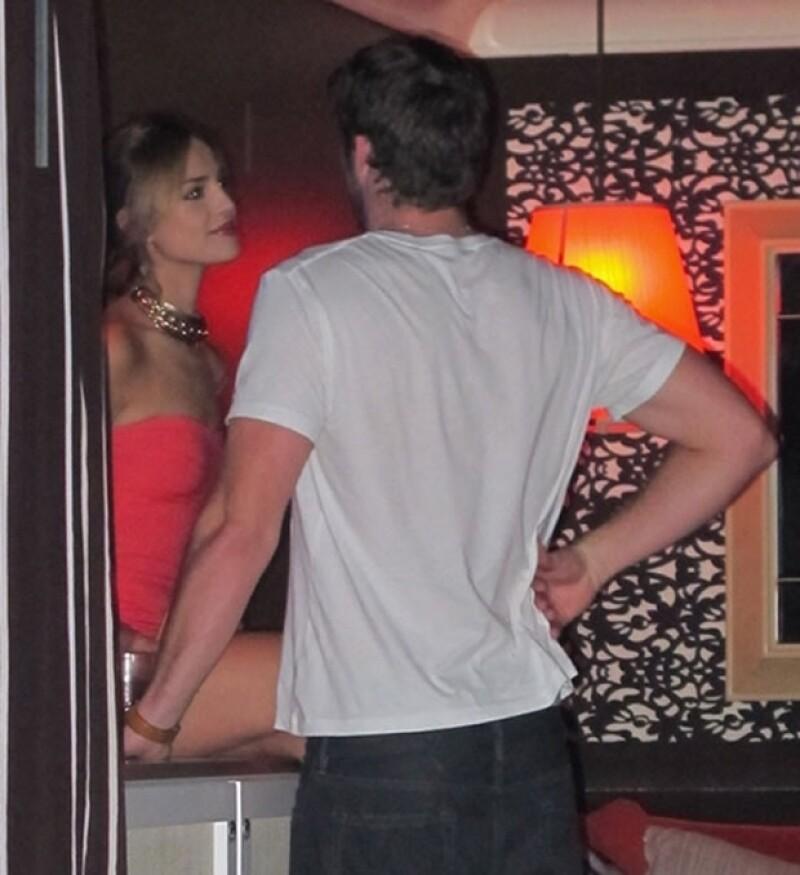 Eiza y Liam en Las Vegas.