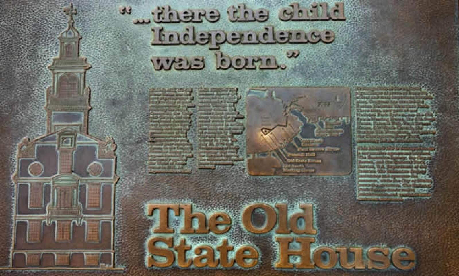 Terminamos esta visita relámpago, con la placa que se encuentra en el Faneuil Hall, conmemorando el inicio de la independencia en Estados Unidos.