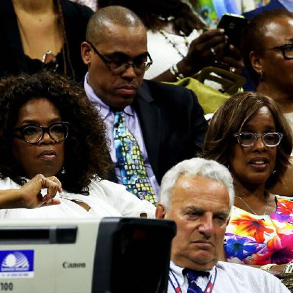 Oprah Winfrey también acudió a ver a las hermanas Williams competir.