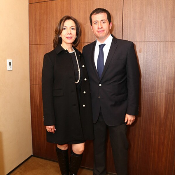 Iris Cuevas y Rodrigo Calvo