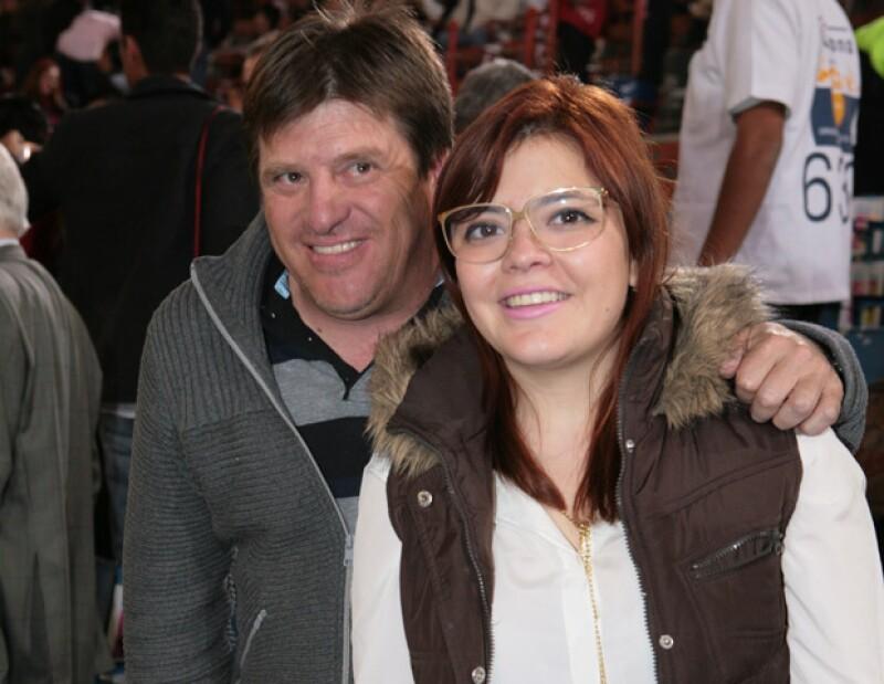 Miguel Herrera y su hija, Mishelle Herrera-