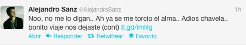 El cantante español escribió algunas palabras para la intérprete.