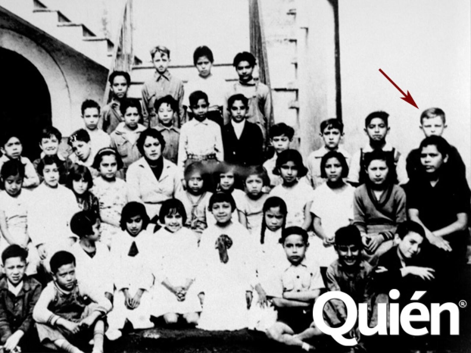 Zabludovsky en 1938 cuando cursaba el quinto año de primaria en la escuela República de Perú M24-24, en el centro de la ciudad de México.