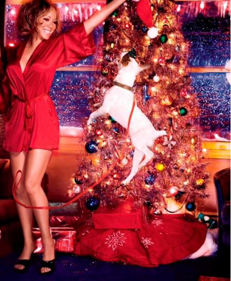 La Navidad es para Mariah un pretexto para lucir sexy.