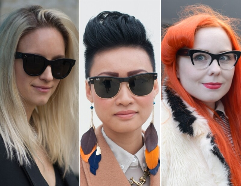 Dior sunglasses, Ray Ban clubmaster y Miu Miu street style.