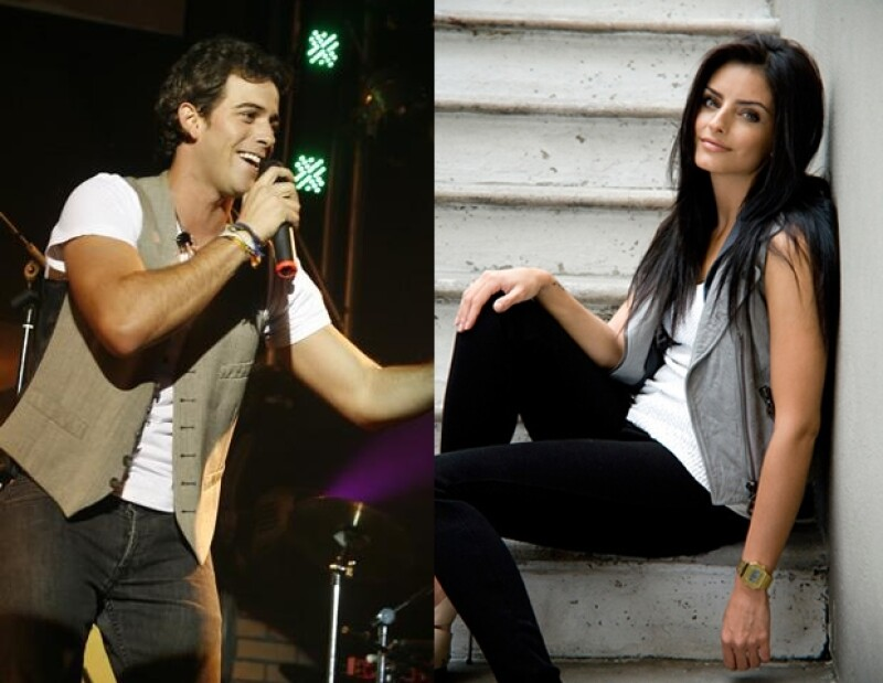 El cantante y la actriz, quienes actuarán juntos en la comedia romántica  `El cielo en tu mirada´, hicieron un Twitcam desde la redacción de Quién.com.