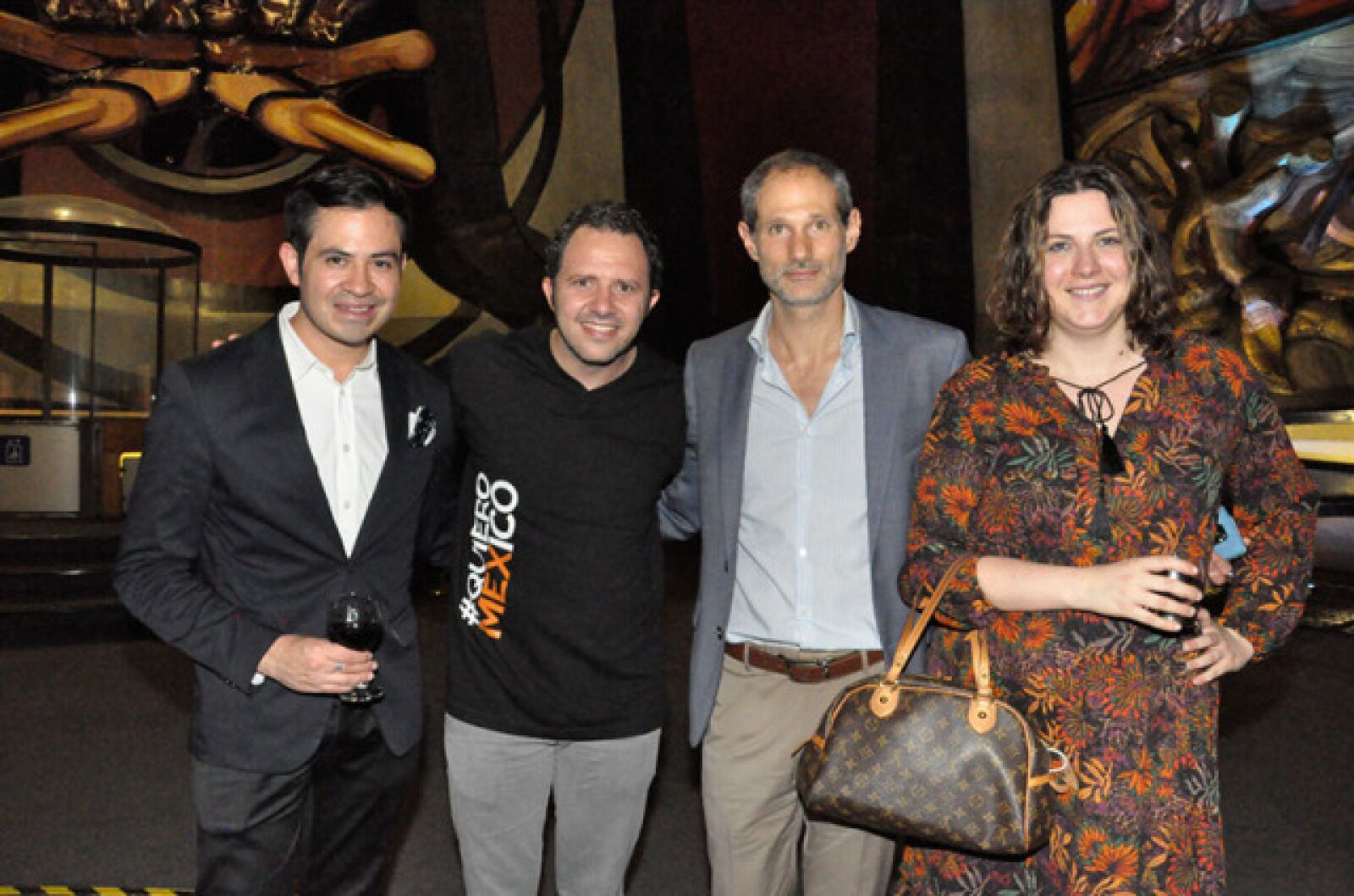 Guillermo Aguilar,Eduardo Gorospe,Dario Okrent y Perla Urkijo