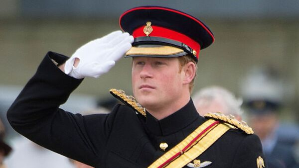 Prince Harry Presents No 26 Squadron RAF Regiment With A New Standard