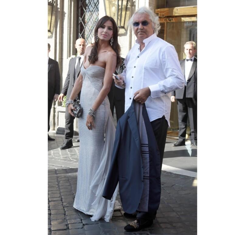 Elisabetta Gregoraci y Flavio Briatore estuvieron muy cariñosos todo el tiempo.
