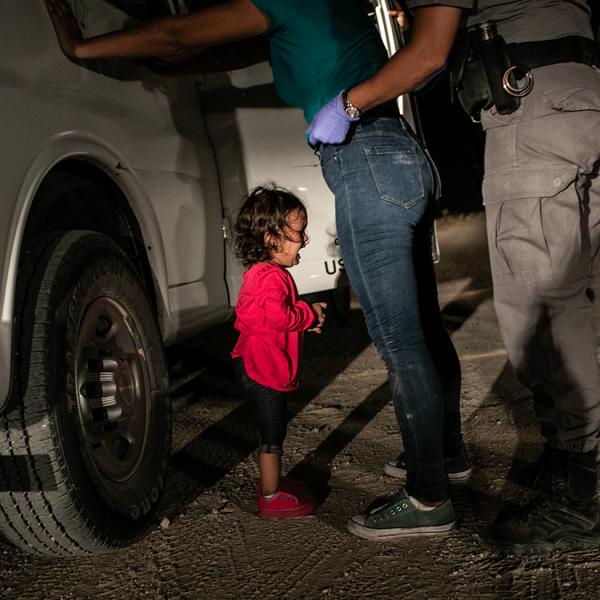 Crying Girl on the Border