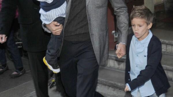 Los hijos de David y Victoria Beckham son otros mini fashionistas.