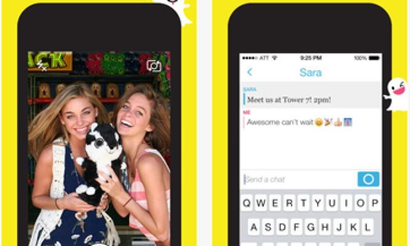 Las fotos de la 'app' cuentan con un cronómetro que fija el tiempo en el que se podrá ver la imagen. (Foto: Especial)