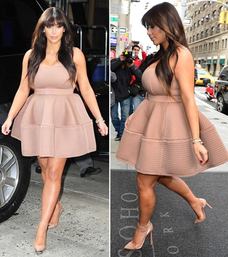 Kardashian también declaró recientemente que estaba feliz que ya se le viera `panza de embarazada´.