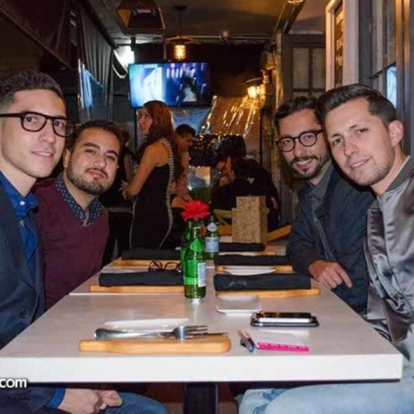 Juan de la Concha,Salim Memi,Daniel Saldaña y Adrián Xavier