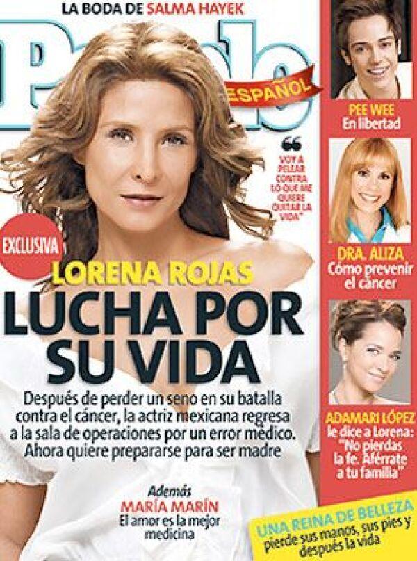 En la edición de abril de People en Español, la actriz hablará de su lucha contra la enfermedad.