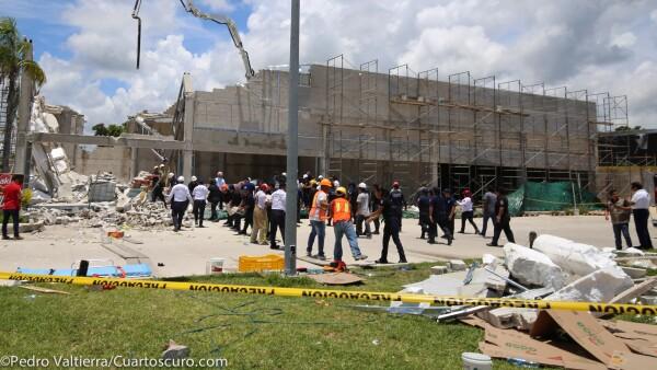 Derrumbe Puerto Morelos Quintana Roo