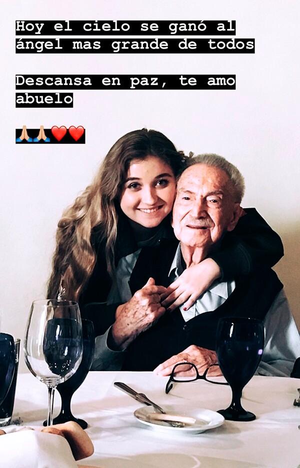 Fernanda Castro y su bisabuelo
