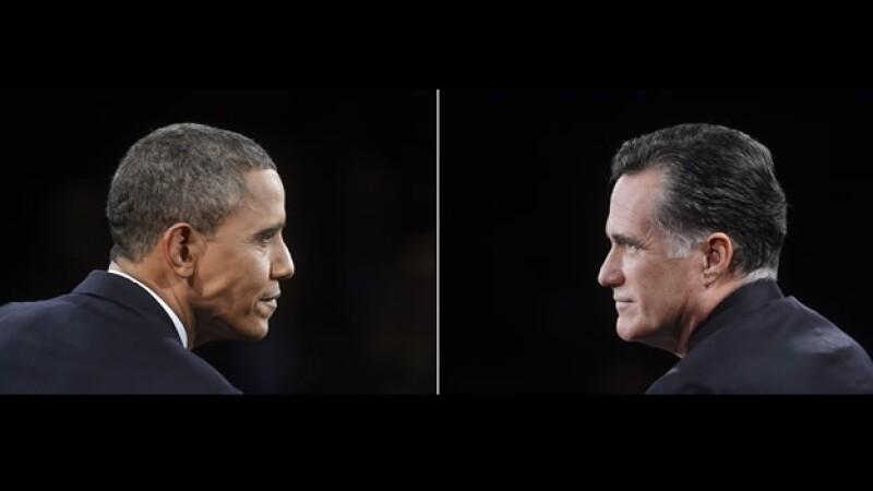 cara a cara de obama y romney