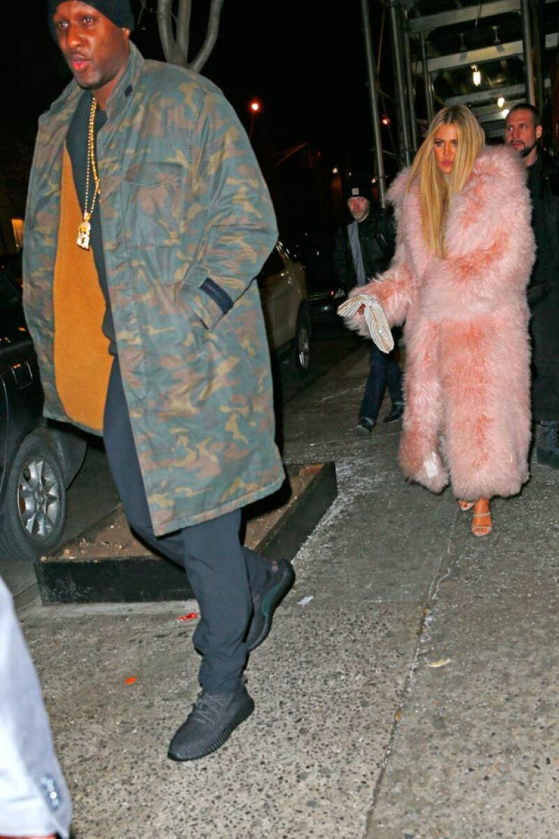 La pareja fue a cenar al restaurante Negril, después del show de Kanye.