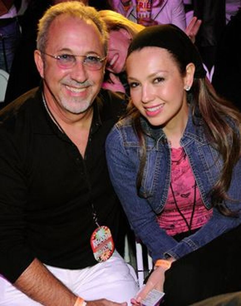 La noche de ayer, la cantante asistió junto con Emilio Estefan a ver a la Reina del Pop.