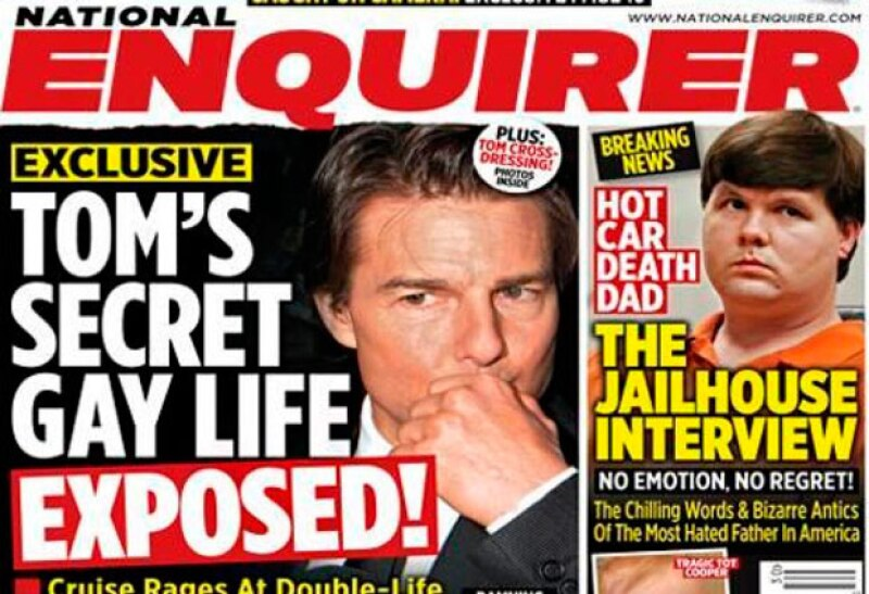 The National Enquirer lanzó un par de números en el que aseguraban que Tom Cruise era gay.