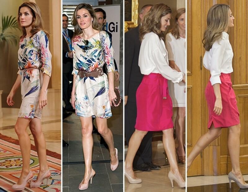 La princesa Letizia suele usar prendas que tiene hace años. Algunas de ellas las usó por primera vez en 2006.