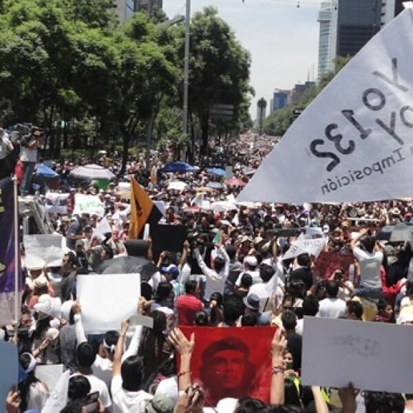 marcha antipeña en reforma