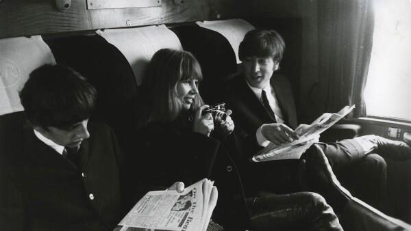 Photo of John LENNON and Astrid KIRCHHERR and BEATLES