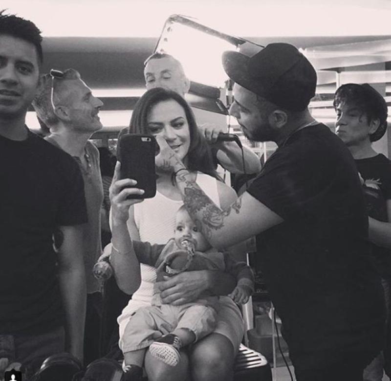La actriz compartió esta foto junto a León a través de Instagram.