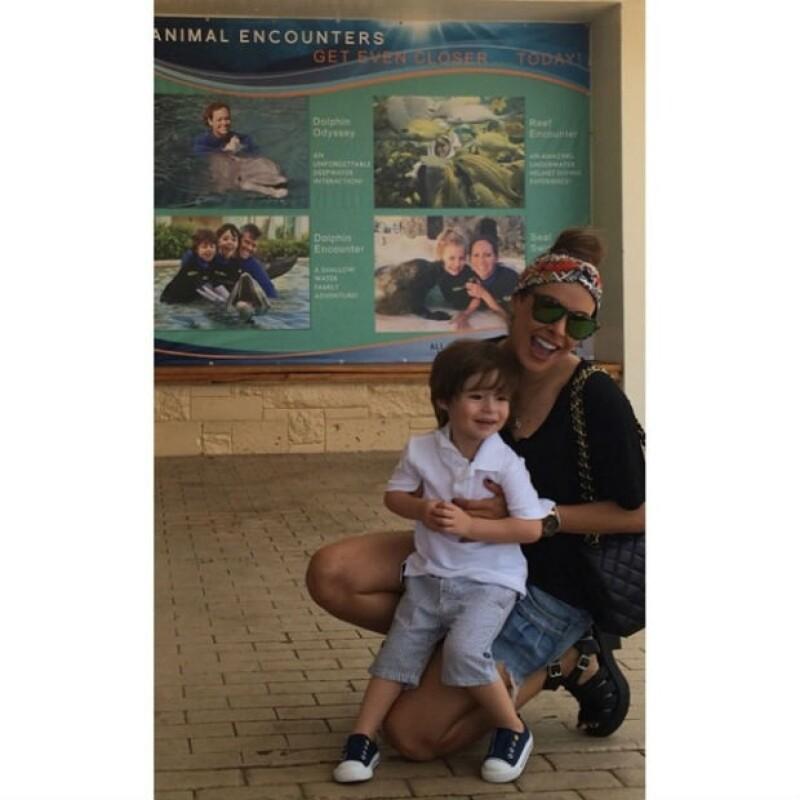 Hace unos días, Galilea Montijo llevó a Mateo al zoológico y al acuario.
