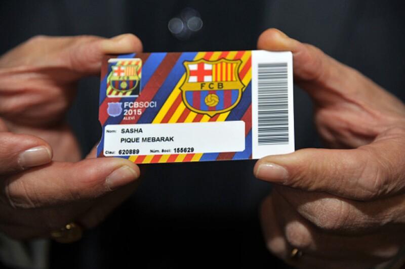 La cuenta de Twitter de FC Barcelona publicó este viernes: `Ayer nació el segundo hijo de @3gerardpique y desde hoy ya es socio del Club. ¡Enhorabuena!´
