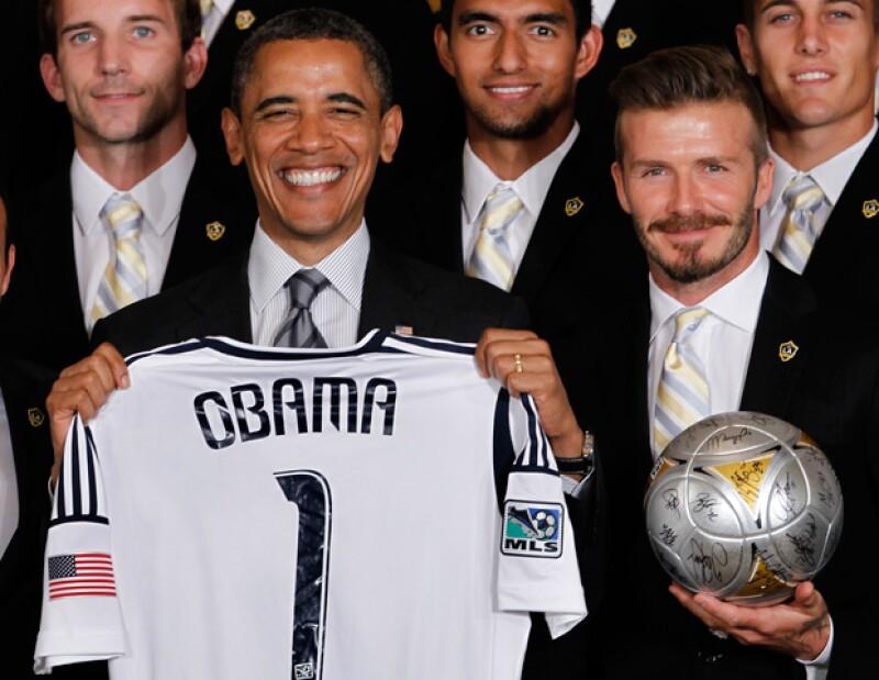 El presidente de Estados Unidos mantuvo una animada charla con el futbolista ayer martes en la Casa Blanca, y no dudó en provocar las risas de los asistentes haciendo referencia a su avanzada edad.