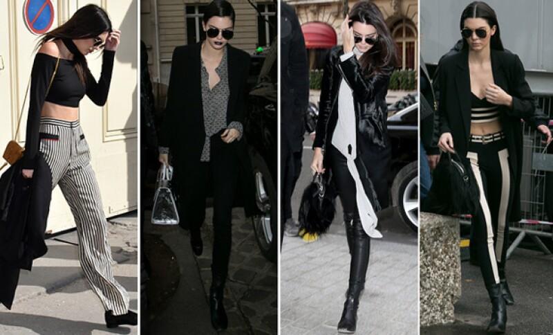 Kendall no ha perdido su estilo monocromático.