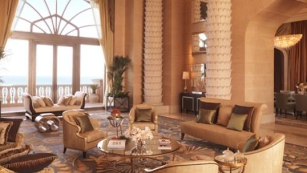 La esposa de Kanye West se hospeda en la 'Royal Bridge Suite' del hotel 'Atlantis The Palm', uno de los hoteles más caros del mundo en Emiratos Árabes Unidos.