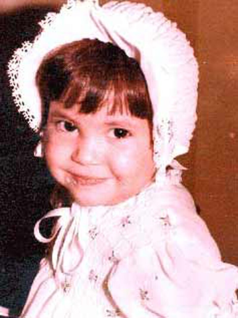 Shakira cuando era tan solo una bebé.