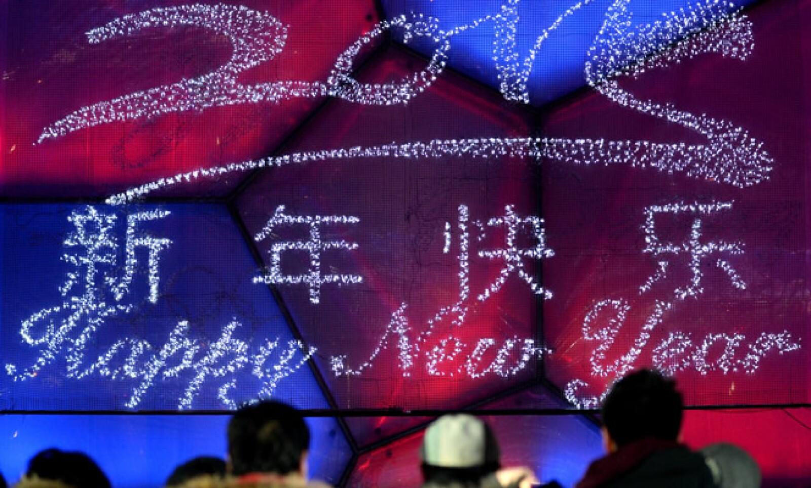 El gigante asiático celebró en todo el país. En Beijing la cuenta regresiva se realizó en el Parque Olímpico, donde deportistas locales se unieron a miles de personas.