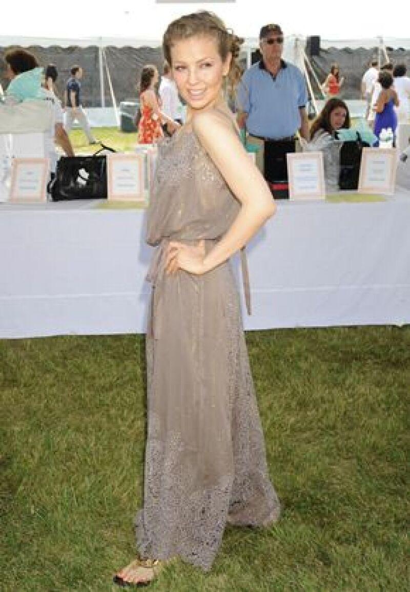 La cantante recibió el Premio del Público 2008 mientras grababa su programa de radio en Nueva York.