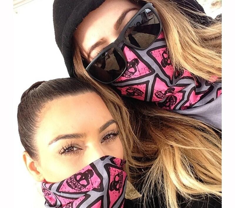 Listas para la carrera, las hermanas postearon algunas imágenes en sus cuentas de Instagram.