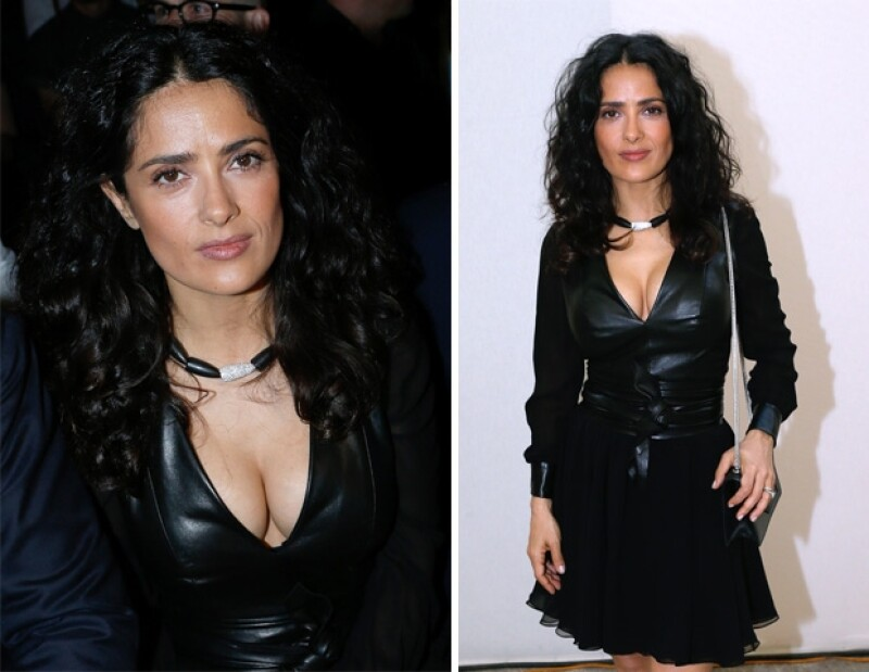 La actriz de 46 años decidió ir con un look monocromático.