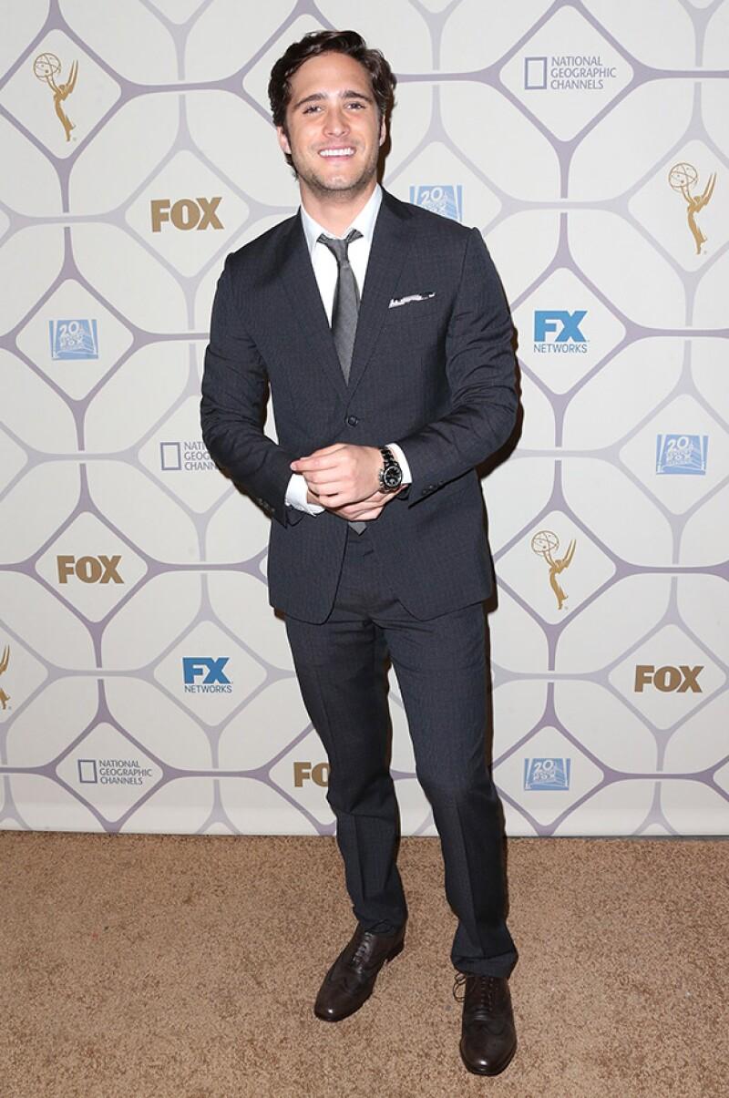Diego Boneta asistió como invitado al after party de Fox, donde estuvieron presentes celebridades de la talla de Sofía Vergara y Lady Gaga.