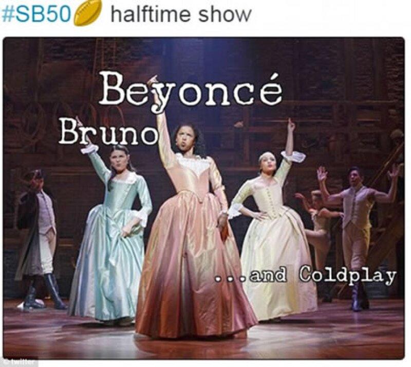 Los memes sobre la gran presencia de Beyoncé predominaron en las redes sociales.