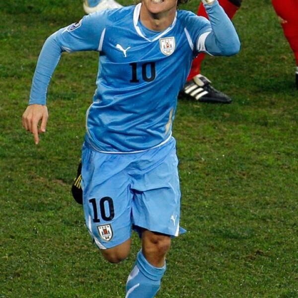 Diego deslumbra cuando respresenta a la selección de Uruguay.