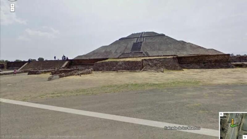 street view zonas arqueológicas México