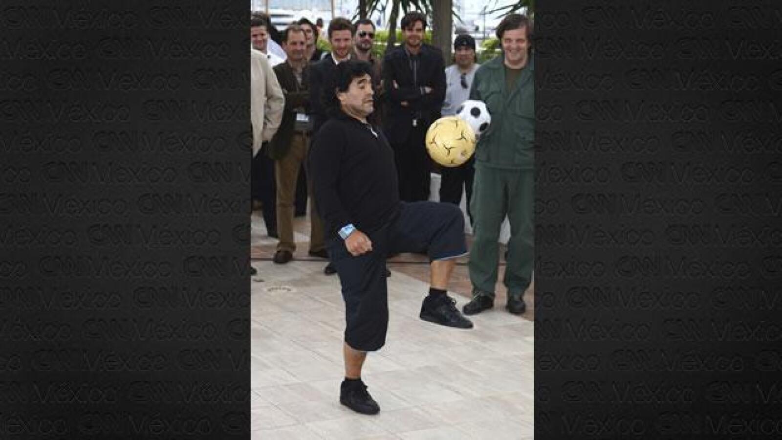 Maradona con sobrepeso