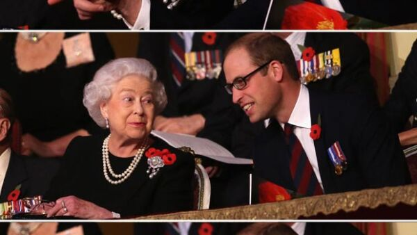 Durante el Festival of Remembrance, la monarca de Inglaterra se dejó ver acompañada por su nieto, quien mientras conversaba con ella logró hacerla sonreír, cosa que en pocas ocasiones sucede.