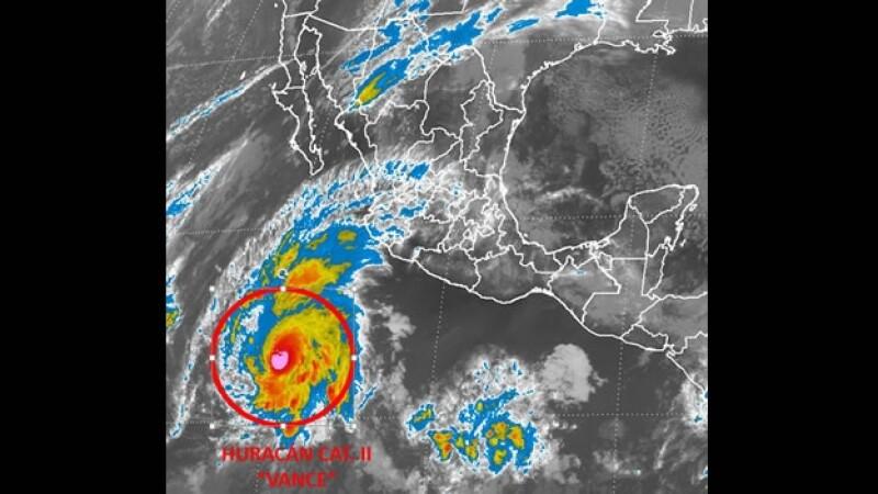 El huracán categoría 2 'Vance'