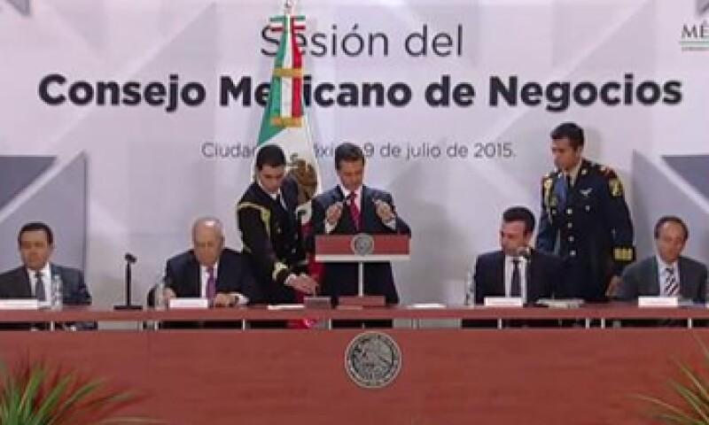 Peña Nieto preside la sesión del CMN. (Foto: Tomada de @PresidenciaMX )