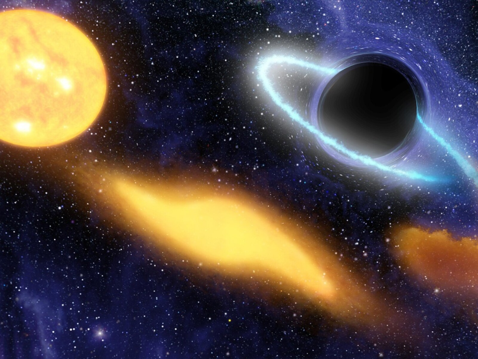 hoyo agujero negro estrella