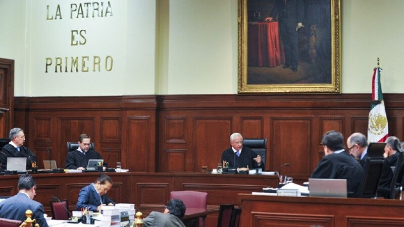 Una sesión ordinaria de los magistrados que integran la Suprema Corte de Justicia de la Nación